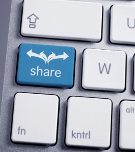 share others' content to build relationships