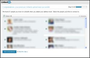 LinkedIn connections grow list