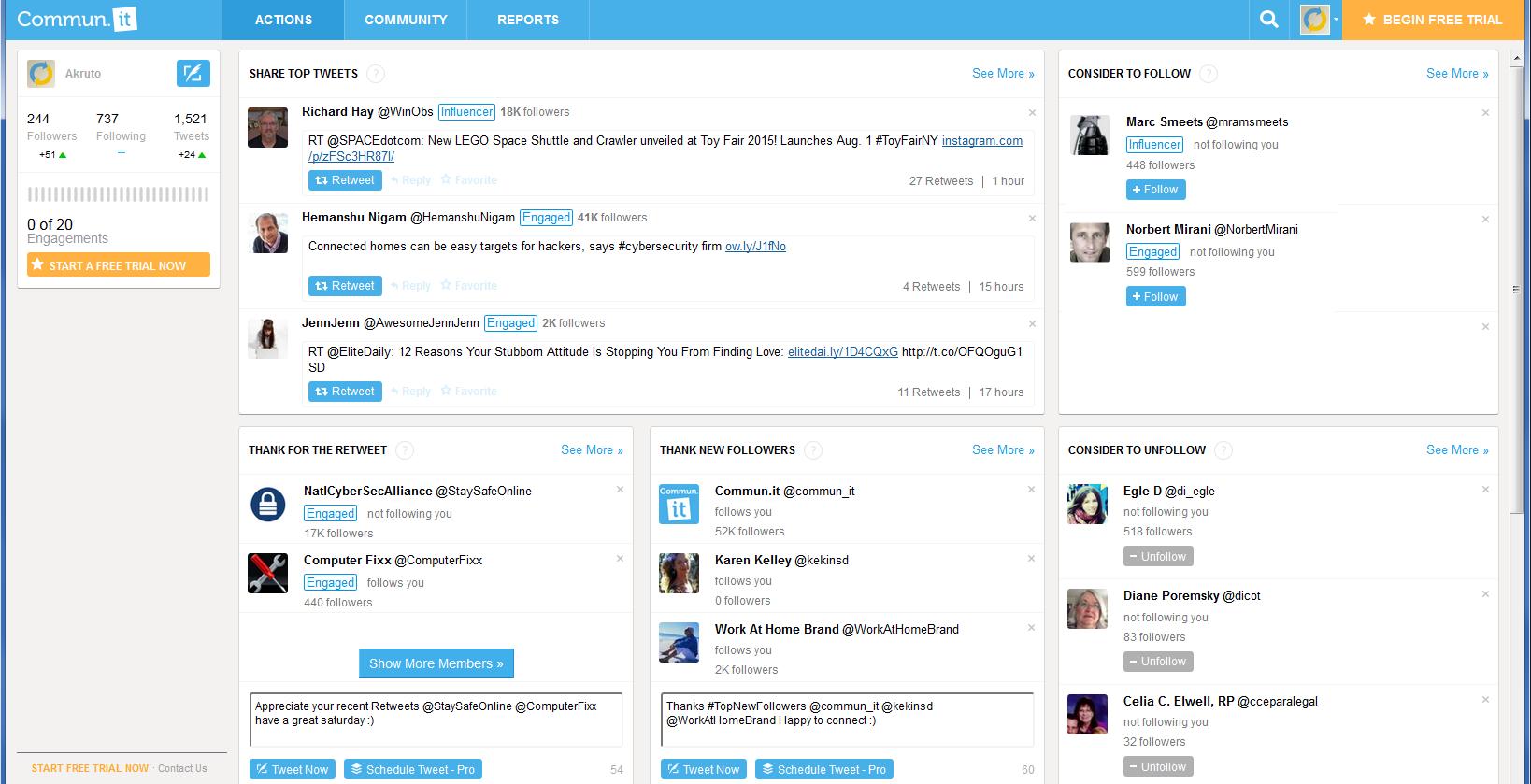 commun.it screenshot influencer
