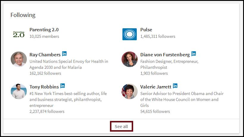 linkedin influencers follow