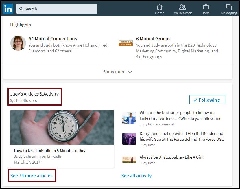 linkedin influencers read blog posts