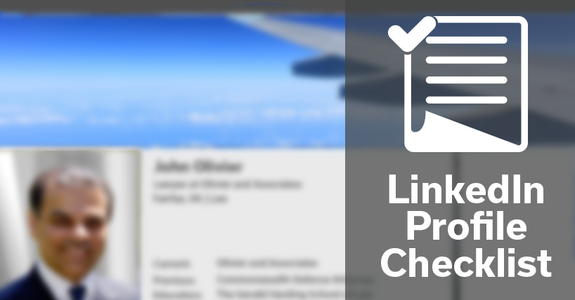 LinkedIn Profile Checklist (Updated)