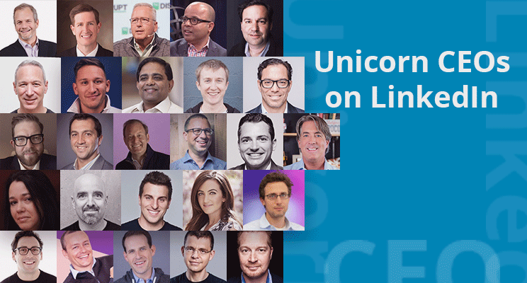 Unicorn CEOs on LinkedIn: Who's Leading, Who's AWOL