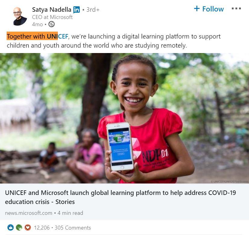 Satya Nadella LinkedIn