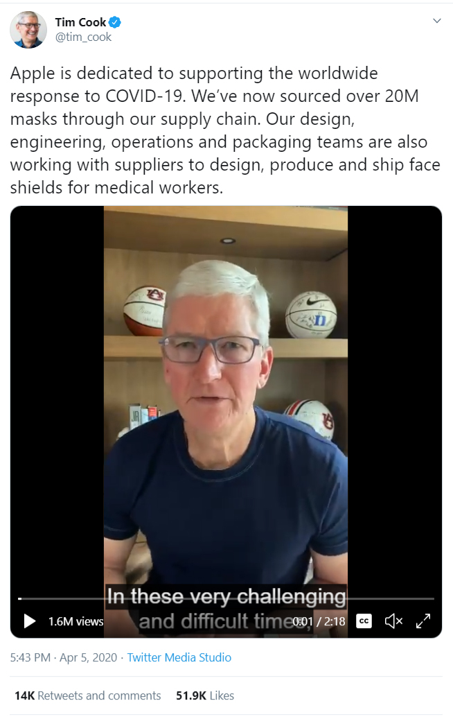 Tim Cook LinkedIn