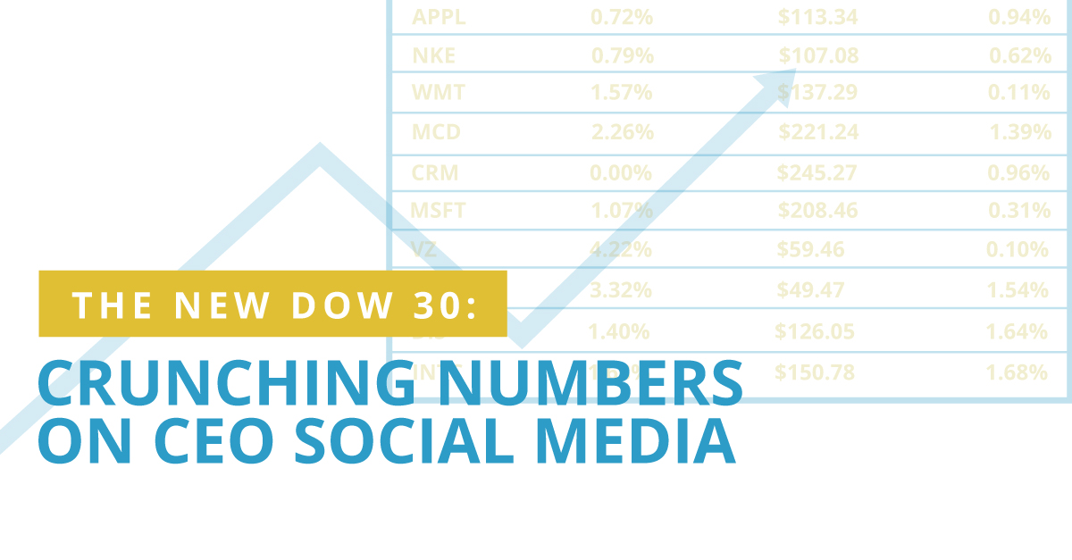 The New Dow 30: Crunching Numbers on CEO Social Media