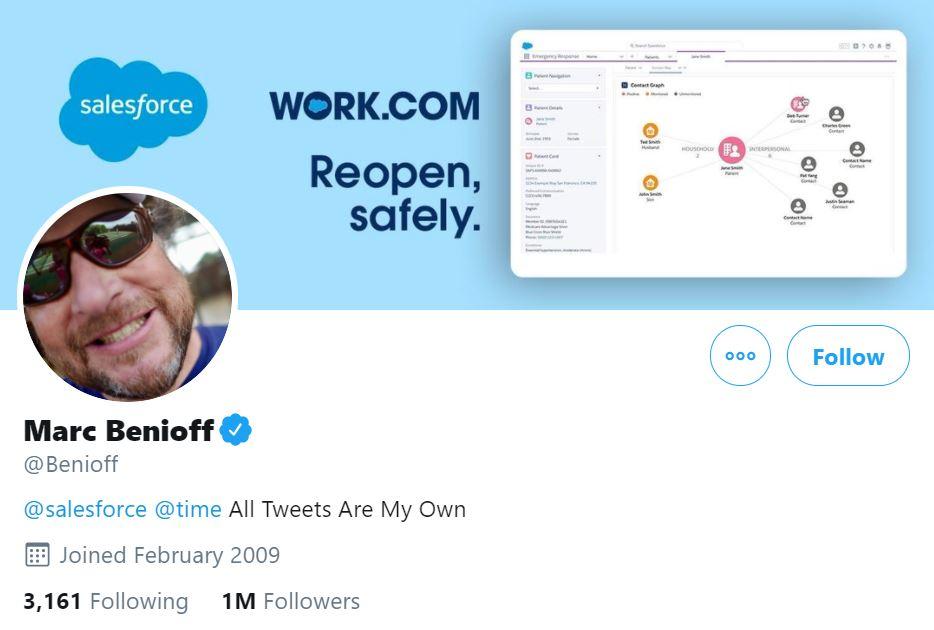 Marc Benioff Twitter